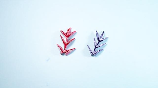 折纸树叶的方法步骤 叶片的折法图解教程_手艺活网