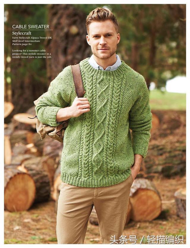 男士高领羊毛衫