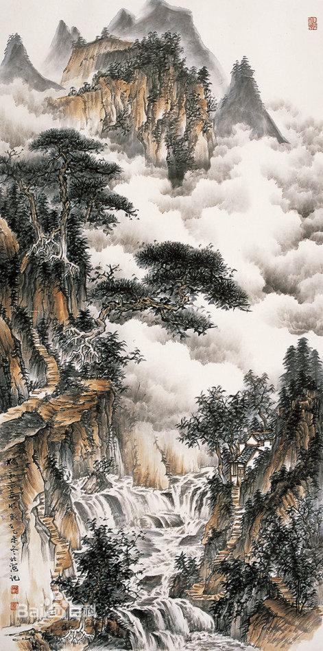 震撼的山水画