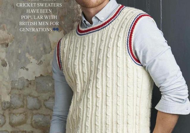 适合编织背心的棒针花样教程,男士毛衣这样织真好看