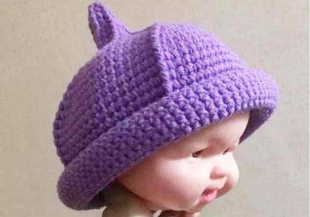 奶嘴帽钩针编织教程,适合任何人配戴,可以全家每人钩一顶亲子帽