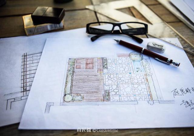 景观庭院手绘效果图图片_景观庭院手绘效果图设计素材_红动手机版