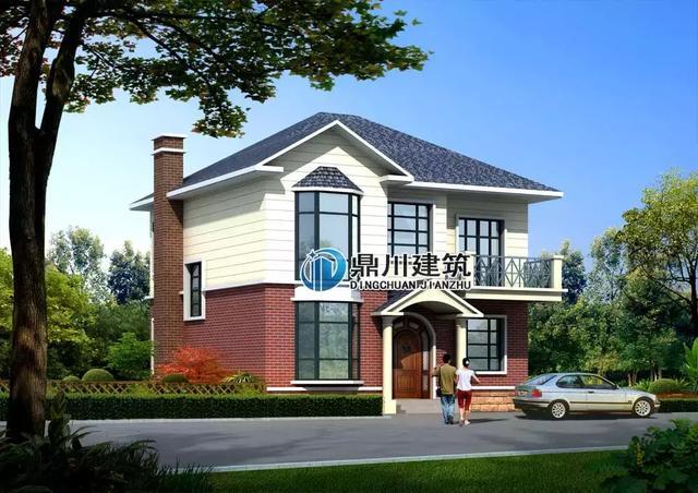 住宅设计:又见高颜值双坡顶红砖房,农村长条形宅基地建房可参考
