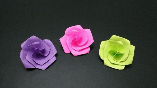 玫瑰花折纸步骤图