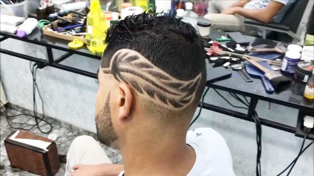 头发雕刻图案