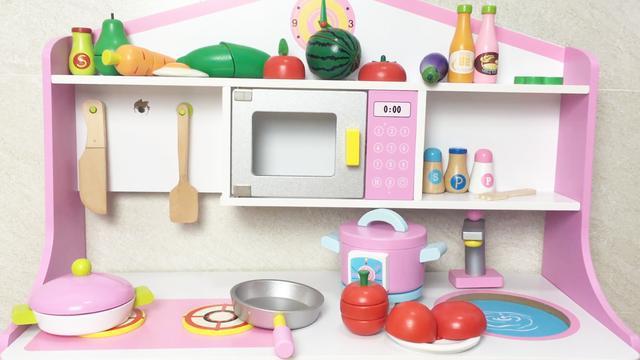 DIY迷你厨房过家家 女生最爱的早教益智玩具 装备超级齐全