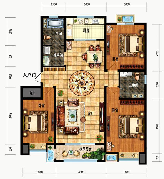 新农村自建房两层10米X15米房屋设计图(含平面图)