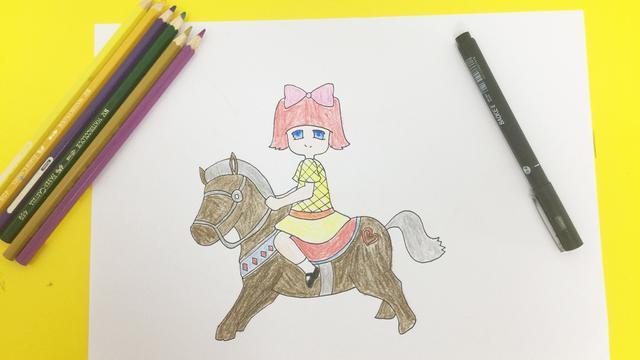 中国骑马的人