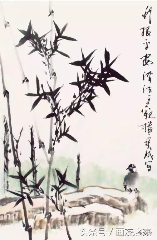 国画教程——写意竹子步骤示范