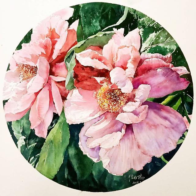 水彩画花朵简单漂亮