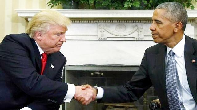 特朗普与奥巴马展开