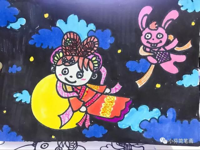 小学生中秋节绘画作品欣赏-学画画入门