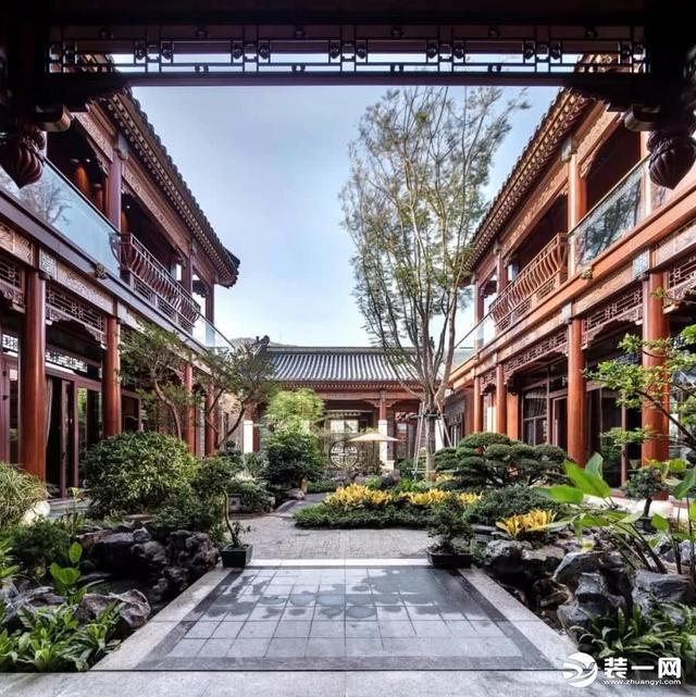 红木鉴赏︱30款中式客厅这样装修,贵气,惊艳!