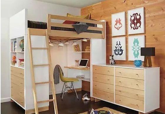 小卧室上下铺设计
