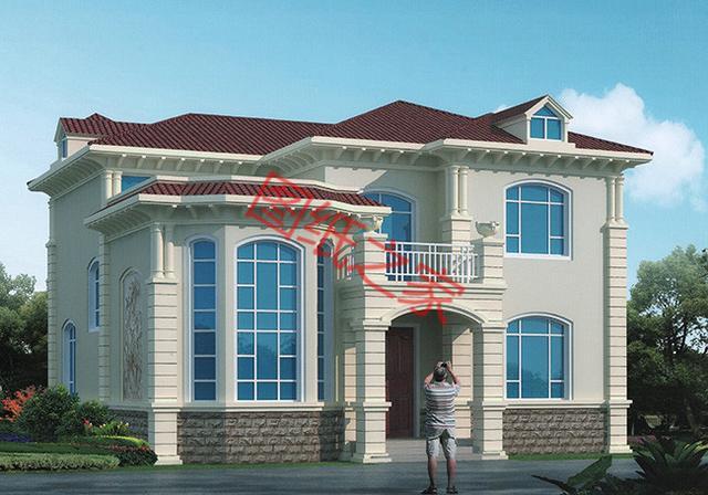 带车库二层农村田园小别墅设计图自建房屋平面图,回归自然生活!