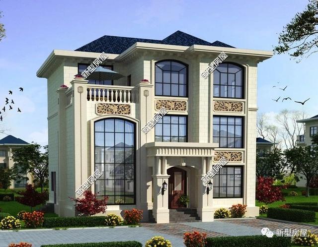 农村自建房欧式别墅图纸10套,造价20万至150万不等,建议收藏