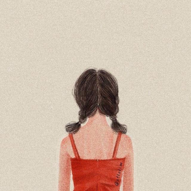 女生背面头像清新淡雅