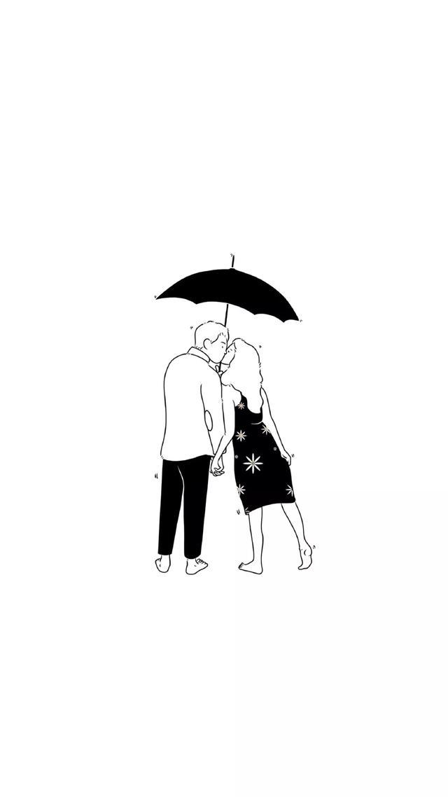 头像情侣一男一女黑白