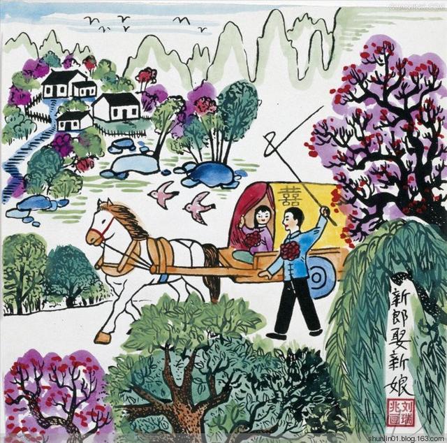 赵敏农民画作品欣赏