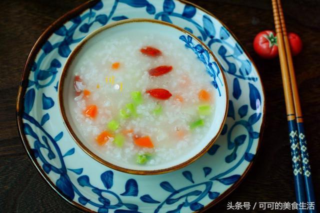 大米淮山营养粥图片