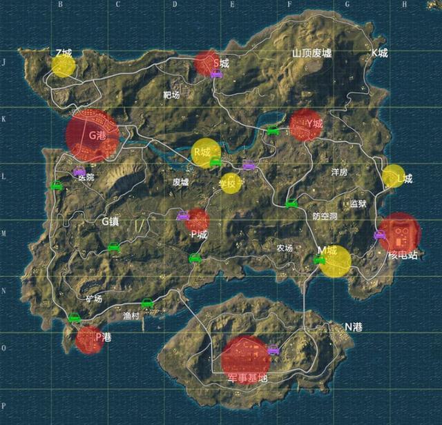6399:绝地求生大逃杀新版地图资源分布一览 新地图的资源在哪里?