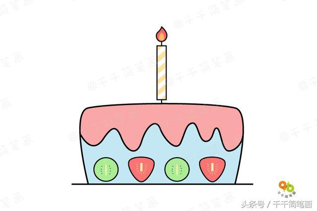 早教簡筆畫:教寶寶如何畫生日蛋糕