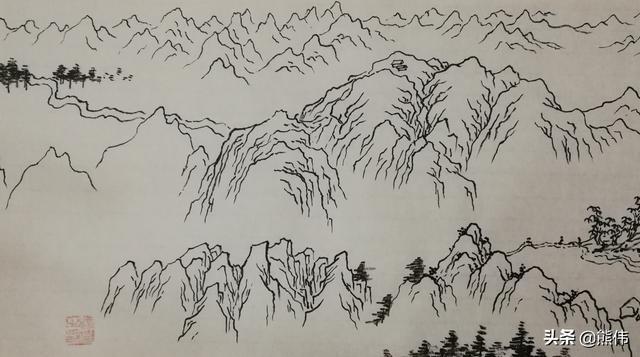五岳泰山儿童简笔画