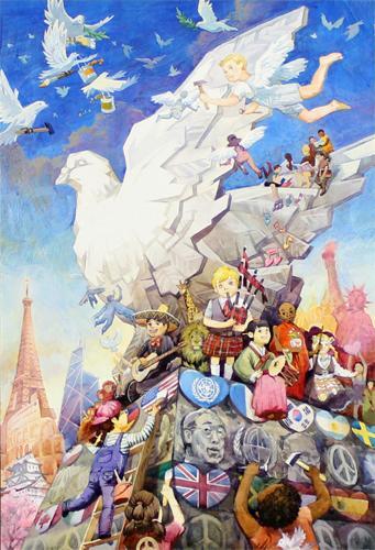 世界和平手抄报图片