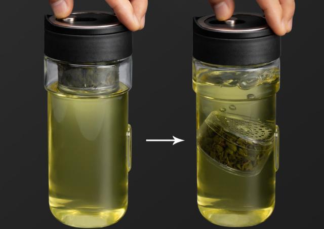 茶水分离泡茶玻璃杯