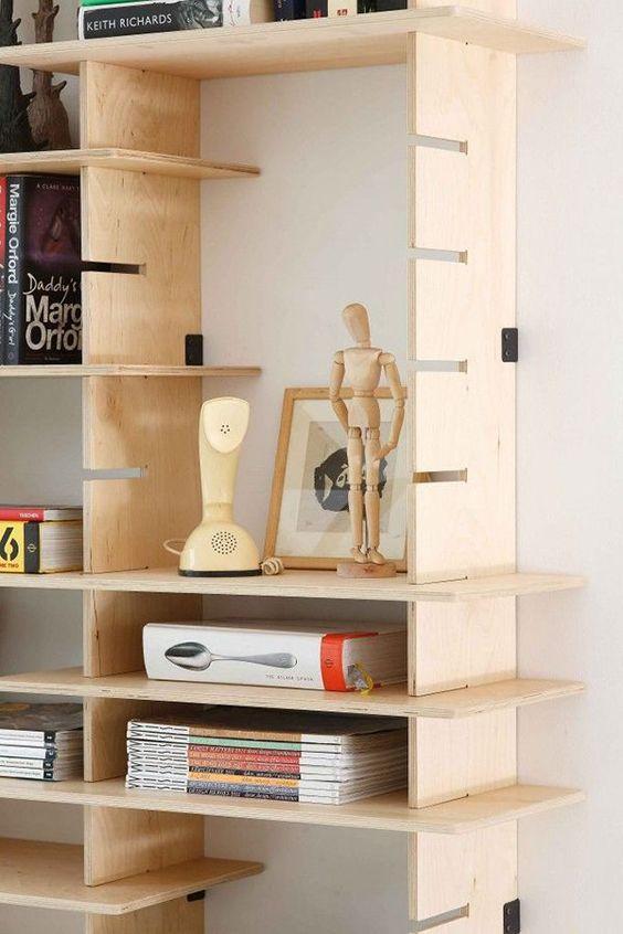 打柜子剩余木板,侧开凹槽还能拼成书架,早知我就不往垃圾堆送了
