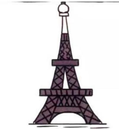 埃菲尔铁塔素描横幅