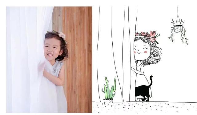 简单可爱小女孩简笔画欣赏_学习啦