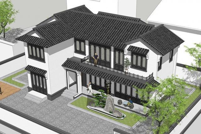 满满中国风的新中式宅院,落地实景太美了