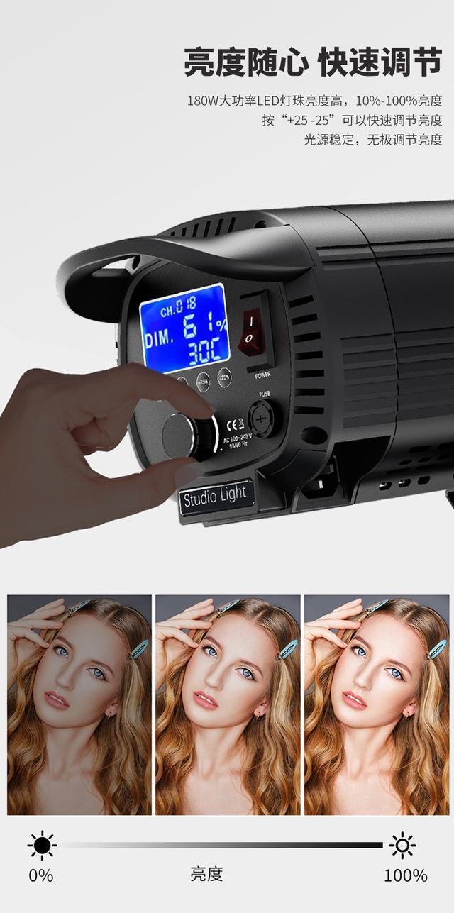 图立方SK180w摄影灯led常亮灯儿童拍摄打光灯服装直播补光灯美颜