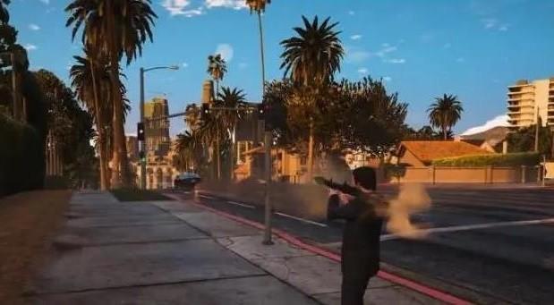 《GTA5》细节测试,因果循环的世界?跟踪慢跑小姐姐,结果感人