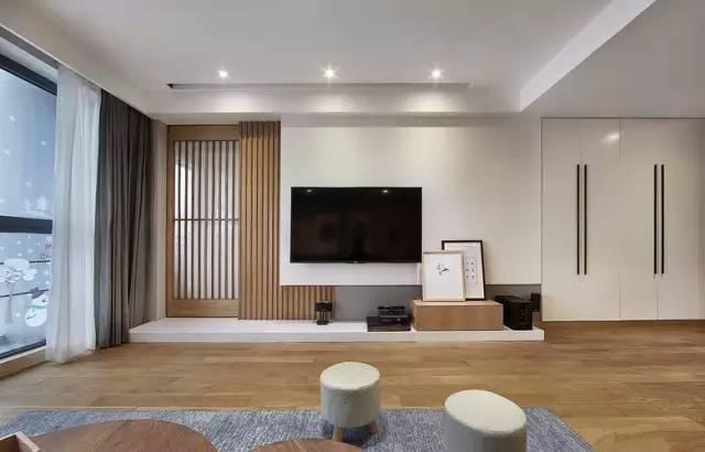 客厅电视背景墙装修效果图,2019好看的电视墙设计