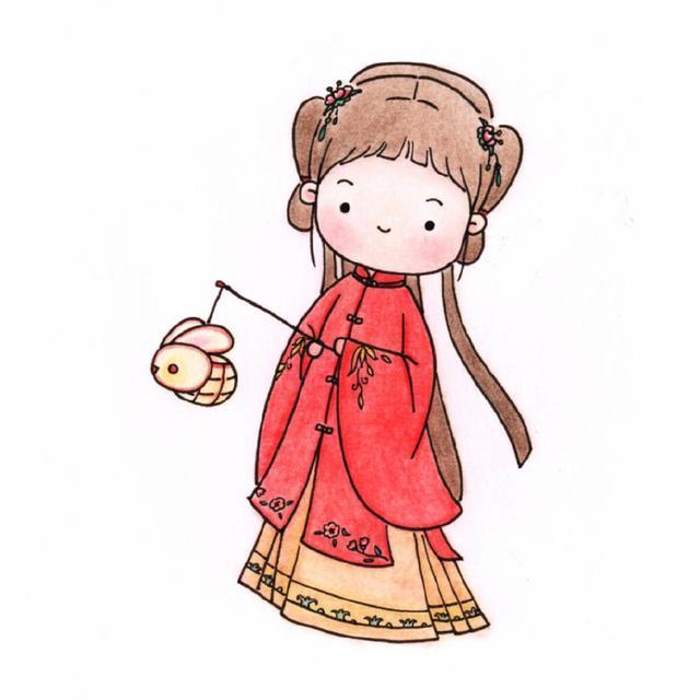 半面妆古风手绘图片线稿/9张_动漫绘画_cilacila动漫图库