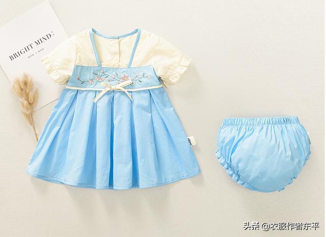 两岁宝宝的中国风汉服连衣裙制作,附裁剪图及制作流程讲解