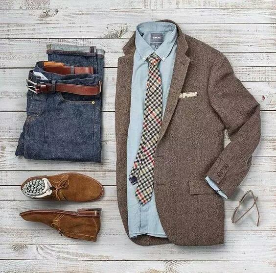 30套男士休闲西装的搭配图与效果图