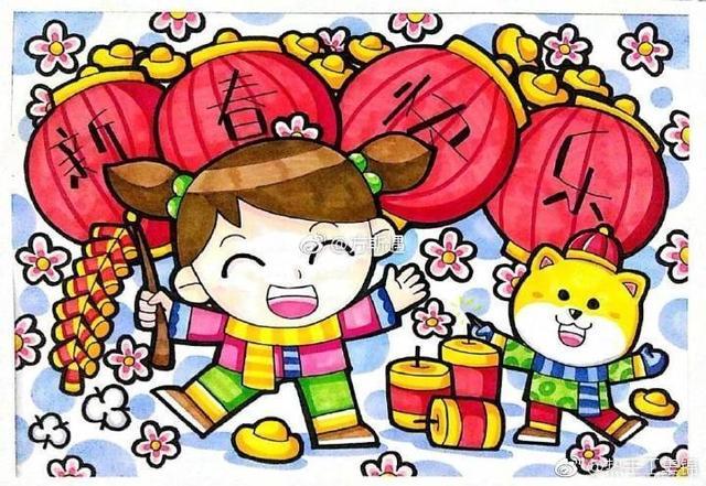 绘画素材|儿童水彩笔画参考素材精选(1)