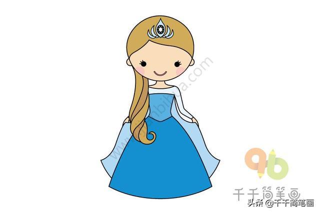 公主简笔画漂亮可爱