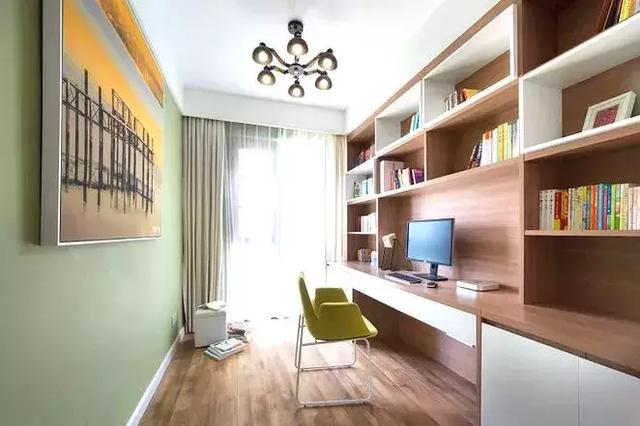 韩式卧室兼书房装修效果图欣赏_装修123效果图