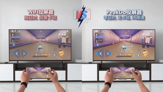 PEAKDO 60GHZ无线投屏器,性能超越任何一款WiFi投屏器