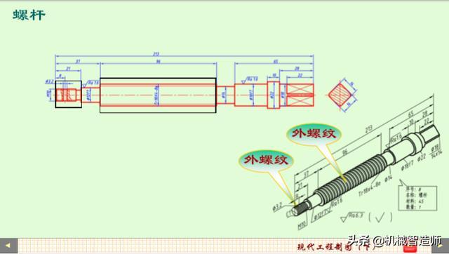螺纹紧固件及螺纹连接的画法_我爱机械制图网