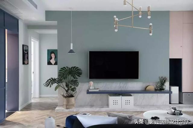 客厅电视背景墙设计装修效果图片_新居网图片频道