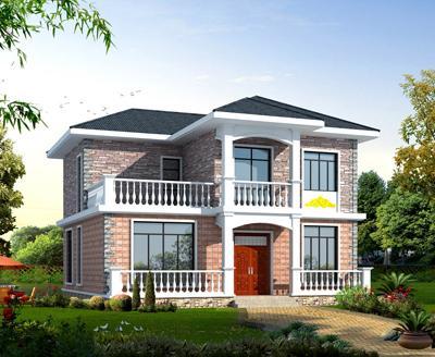 二层别墅设计图纸及效果图 - 农村二层房屋设计图_... - 51盖房网