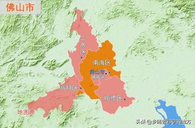 佛山里水地图全图