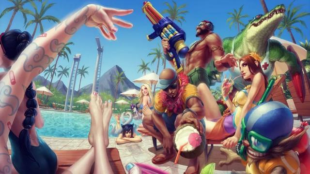 lol泳池派对男枪皮肤现在可以买吗?