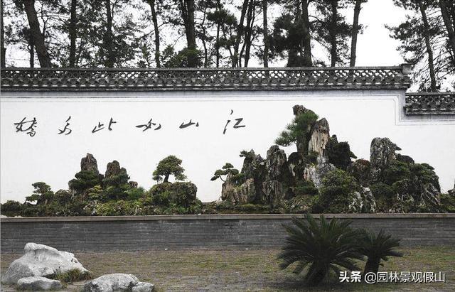 中式庭院假山效果图,山石也能让庭院精彩绝妙
