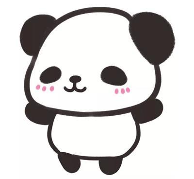 简笔画大全,熊猫(九)